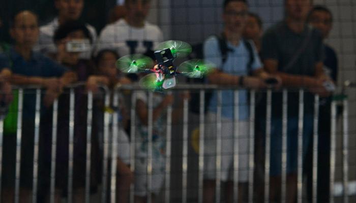 智博会举行国际无人机竞速大奖赛
