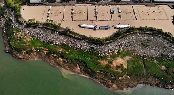 全国沙滩排球巡回赛(云阳站)开赛 百名健将激烈角逐