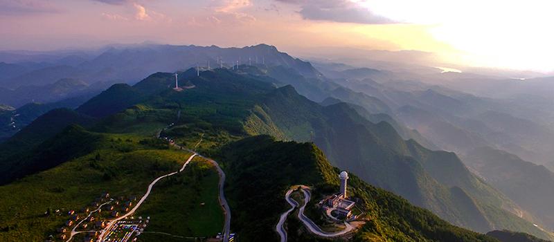 无人机航拍:山城夏日别面 石柱高山有风