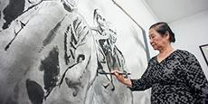 江碧波:大型组画描绘中华文明
