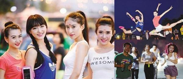 重庆有个美女夜跑团 人人扮起武媚娘耍酷