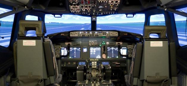 全景体验飞机模拟驾驶舱