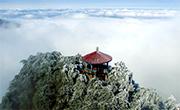 航拍庐山雾凇云海 奇幻壮丽如仙境
