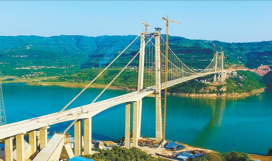 重庆万州驸马长江大桥年内建成通车