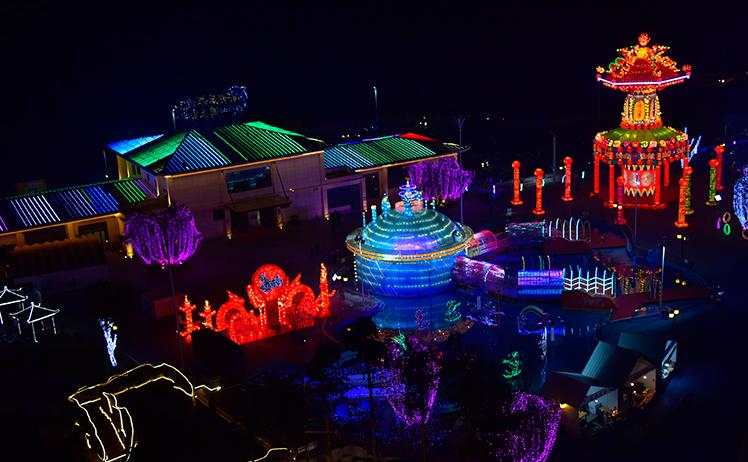 重慶合川三江燈會開展