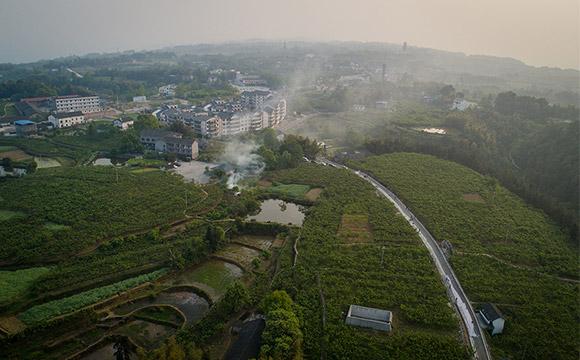 航拍重慶永川黃瓜山片區