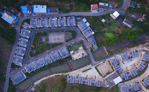 航拍三峽庫區齊聖村 脫貧攻堅帶來新面貌