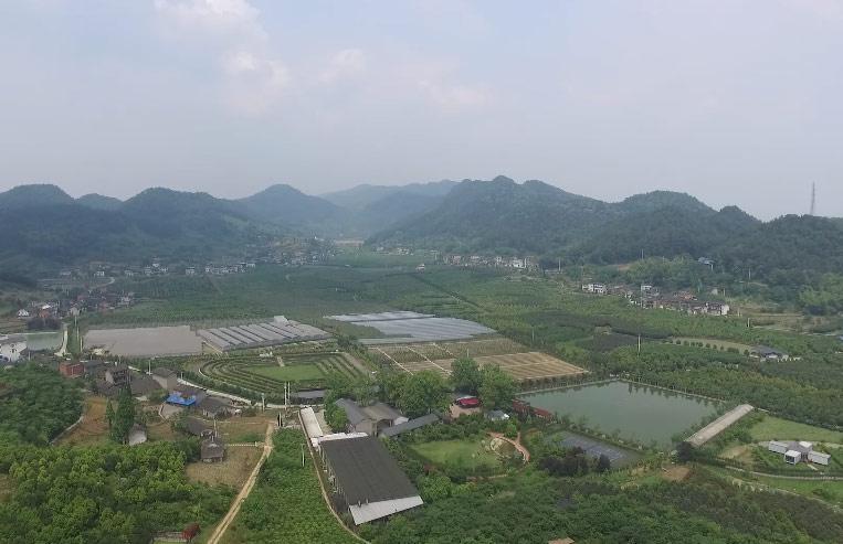航拍重慶北碚虎頭村