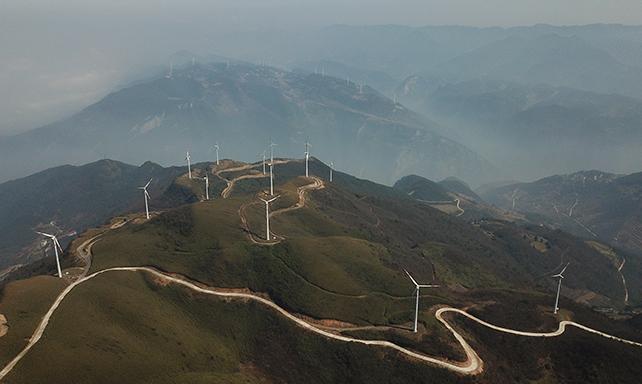 西南地區首個風力發電場投用已有近十年