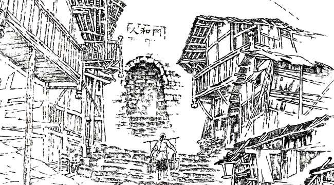 73歲老畫家毛筆繪就重慶17座古城門