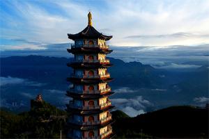 无人机云端邂逅重庆云台寺 美景与清凉同在