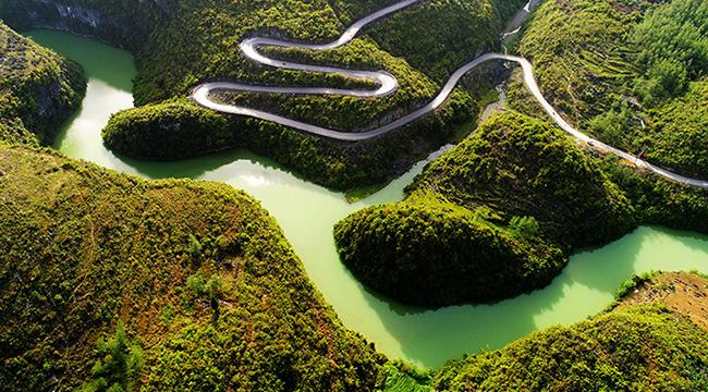风景藏在生态里——航拍重庆酉阳锦绣江河