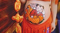 重慶舉行孕媽彩繪大賽 為新生命留下特別記憶
