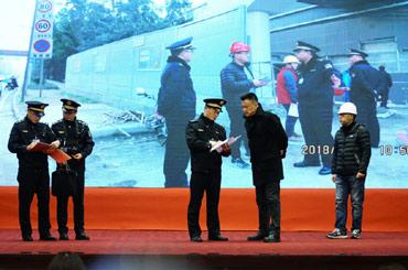 重慶市城市管理執法總隊代表隊模擬城市道路執法檢查