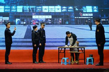 涪陵區代表隊模擬整治佔道經營行為