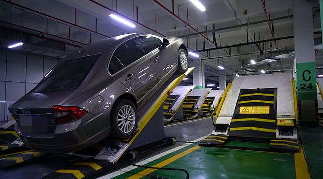 停車新姿勢!打卡國內首個平面斜置式智能停車庫