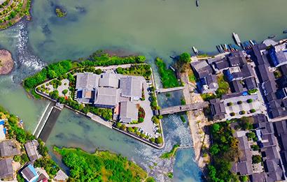 無人機航拍:四月洪安 畫中走來
