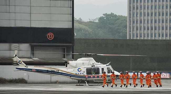 重慶舉行森林火災撲救演練 三架直升機參演