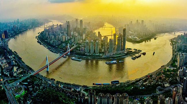 高清航拍:山水重慶城 逢夏美三分