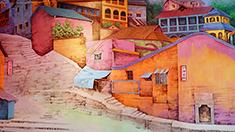 """重慶這條""""壁畫街""""用色彩裝點街巷風貌"""