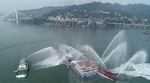 直擊長江幹線水上聯合搜救演習