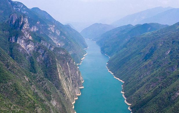 航拍三峽175水位新景觀 巫山神女露真容