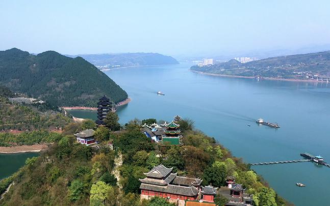 航拍三峽175水位新城景觀 飛閱高峽平湖 仙都名山變蓬萊