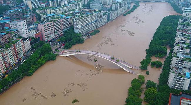 航拍:現場丨重慶首次洪水紅色預警
