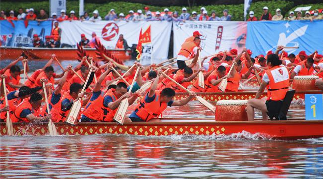 重慶:龍溪河上龍舟競渡