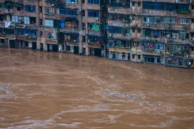 重慶綦江再次告急 部分居民樓被淹
