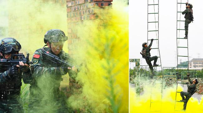 重慶武警:夏季練兵正當時