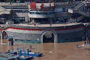 直擊長江第3號洪水過境重慶