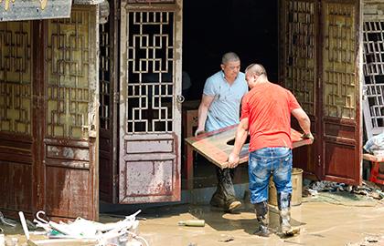 重慶磁器口古鎮開展災後恢復工作