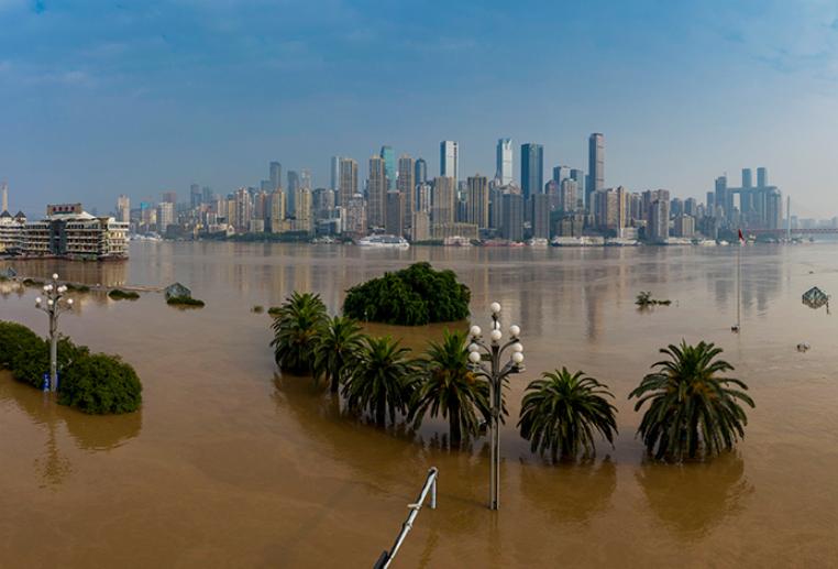 重慶主城水位退至警戒線以下