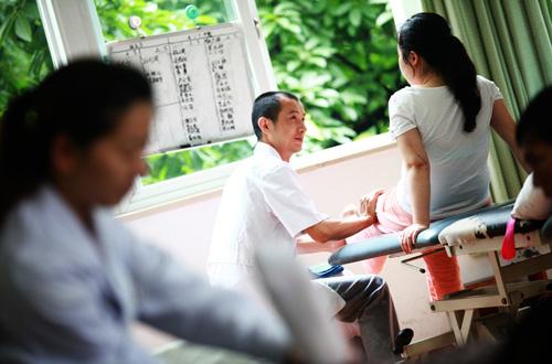 實拍重慶醫院裏的康復中心